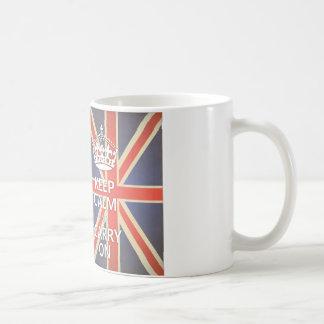 Houd Kalm en vervoer het Verenigd Koninkrijk Union Koffiemok