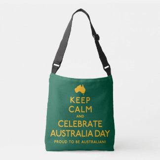 Houd Kalm en vier de Dag van Australië! Crossbody Tas