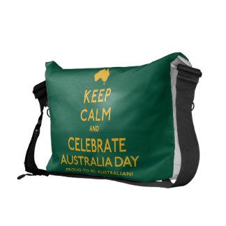 Houd Kalm en vier de Dag van Australië! Messenger Bags