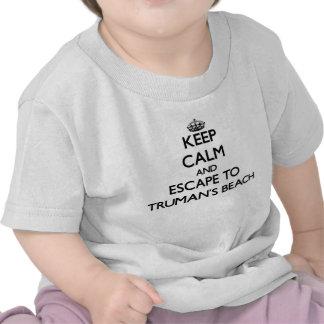Houd kalm en vlucht aan het Strand New York van T-shirt