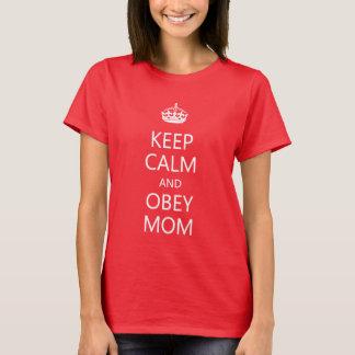 Houd Kalm en voer het Grappige Moederdag van het T Shirt