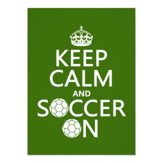 Houd Kalm en Voetbal 13,9x19,1 Uitnodiging Kaart