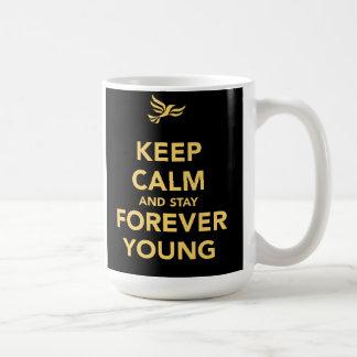 Houd Kalm en voor altijd Jong Verblijf Koffiemok