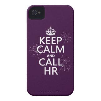Houd Kalm en Vraag u (om het even welke kleur) iPhone 4 Hoesje