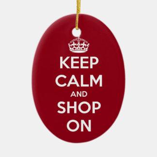 Houd Kalm en Winkel op Ornament