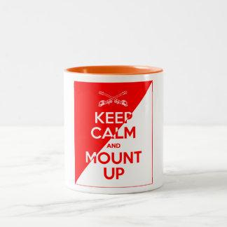 Houd Kalm en zet omhoog op Tweekleurige Koffiemok