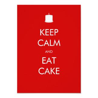 Houd Kalm eten de Uitnodiging van de Verjaardag