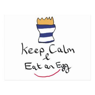Houd Kalm eten een Ei Briefkaart