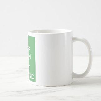 Houd kalm eten Organisch Koffiemok
