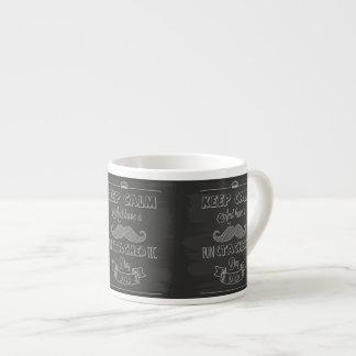 Houd Kalm Gelukkig Vaderdag Espresso Kop