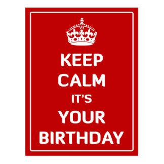 Houd Kalm het is Uw Verjaardag Briefkaart