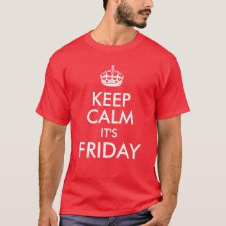 Houd Kalm het is Vrijdag, Grappige Casual T-shirt