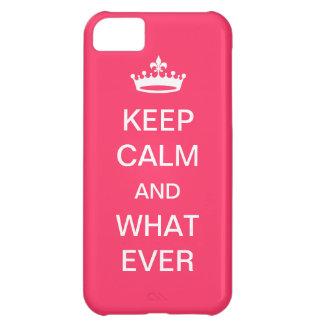 Houd Kalm iPhone 5C Cover