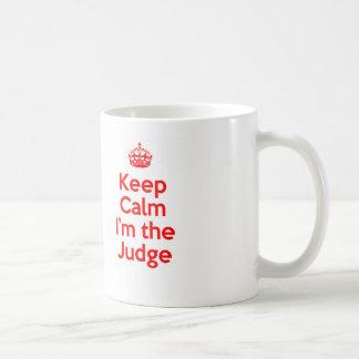 Houd Kalm ik ben de Rechter in Rood Koffiemok
