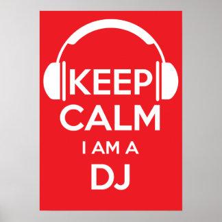Houd kalm ik ben DJ Poster