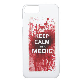 Houd Kalm ik ben een de bloed-Spat van de Dokter iPhone 8/7 Hoesje