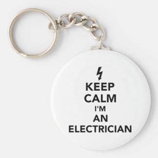 Houd kalm ik ben een elektricien sleutelhanger