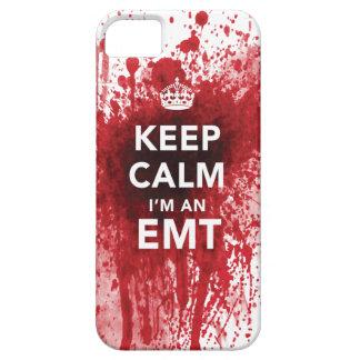 Houd Kalm ik ben een EMT Bloed Bespatte iPhone 5 H Barely There iPhone 5 Hoesje
