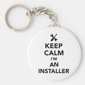 Houd kalm ik ben een installateur sleutelhanger