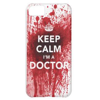 Houd Kalm ik ben een iPhone 5 van bloed-Spatted iPhone 5C Hoesje