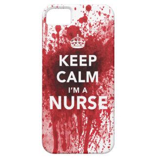 Houd Kalm ik ben een iPhone 5 van bloed-Spatted va Barely There iPhone 5 Hoesje