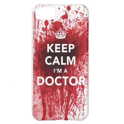 Houd Kalm ik ben een iPhone 5 van bloed-Spatted va Hoesjes Voor iPhone 5C
