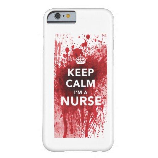 Houd Kalm ik ben een iPhone 6 van bloed-Spatted Barely There iPhone 6 Case