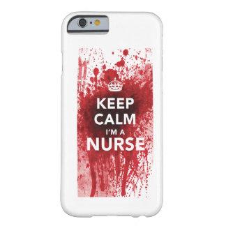 Houd Kalm ik ben een iPhone 6 van bloed-Spatted va Barely There iPhone 6 Hoesje