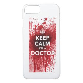 Houd Kalm ik ben een iPhone 7 van bloed-Spatted iPhone 8/7 Hoesje
