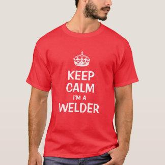 Houd kalm ik ben een lasser t shirt