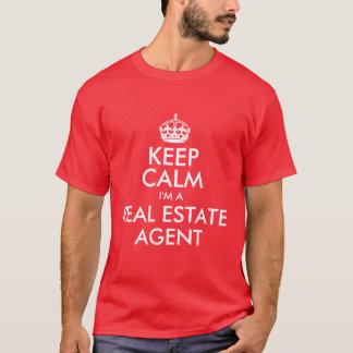 Houd Kalm ik ben een Makelaar in onroerend goed T Shirt