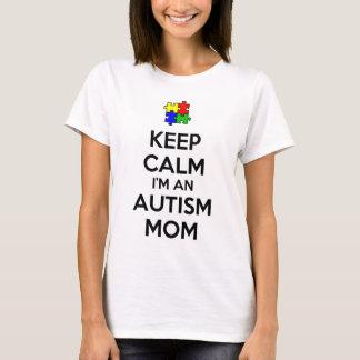 Houd Kalm ik ben een Mamma van het Autisme T Shirt
