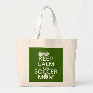 Houd Kalm ik ben een Mamma van het Voetbal (in om Grote Draagtas