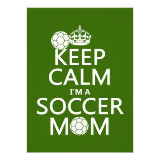 Houd Kalm ik ben een Mamma van het Voetbal (in om  Aankondiging