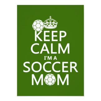 Houd Kalm ik ben een Mamma van het Voetbal (in om 13,9x19,1 Uitnodiging Kaart