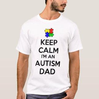 Houd Kalm ik ben een Papa van het Autisme T Shirt
