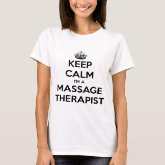 Houd Kalm ik ben een Therapeut van de Massage T Shirt