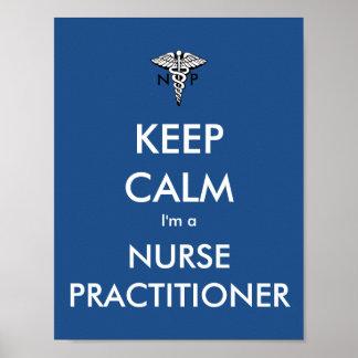 Houd Kalm ik ben een Vakman van de Verpleegster Poster