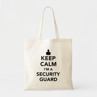 Houd kalm ik ben een veiligheidsagent draagtas
