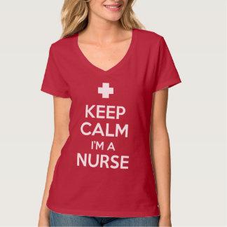 Houd Kalm ik ben een Verpleegster T Shirt