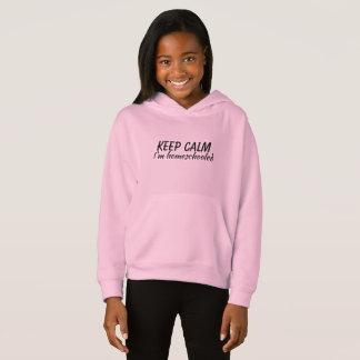 Houd Kalm ik ben homeschooled sweater met een kap