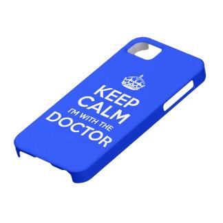 Houd Kalm ik ben met de Arts met kroon iPhone 5 Case-Mate Hoesje