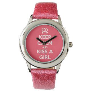 Houd Kalm & kus een Horloge van het Meisje