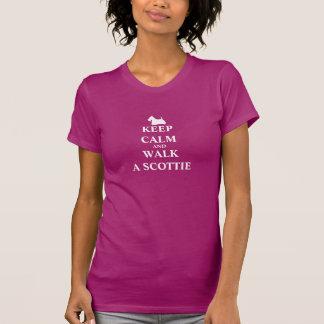 Houd Kalm & loop een t-shirt van humor vrouwen