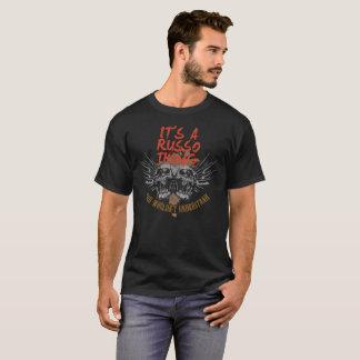 Houd Kalm omdat Uw Naam RUSSO. is T Shirt