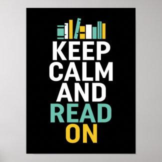 Houd Kalm op Poster voor Boekenwurm en Nerds