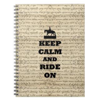 Houd kalm & rit notitieboek