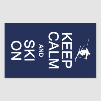 Houd Kalm & Ski op stickers