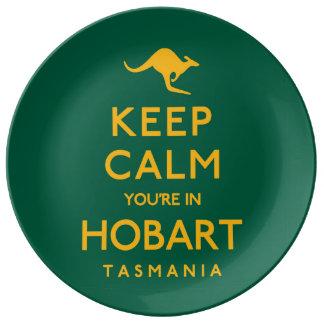 Houd Kalm u zijn in Hobart! Porseleinen Bord