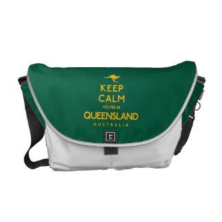 Houd Kalm u zijn in Queensland! Courier Bags
